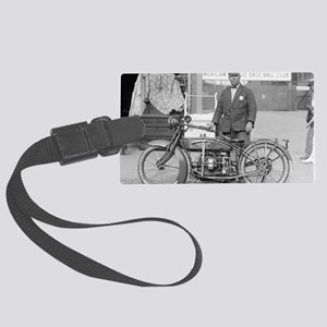 Motorcycle Police Officer Large Luggage Tag