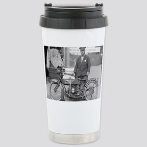 Motorcycle Police Offic Stainless Steel Travel Mug