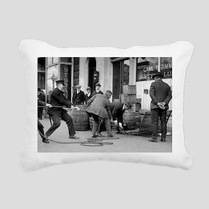 Police Seizing Bootleg L Rectangular Canvas Pillow