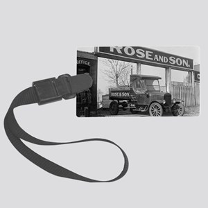 Coal Delivery Truck Large Luggage Tag