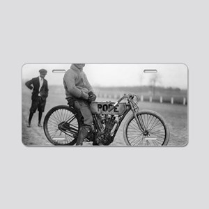Pope Motorcycle Racer Aluminum License Plate