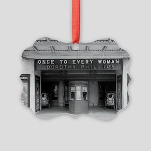 Rialto Movie Theater Picture Ornament
