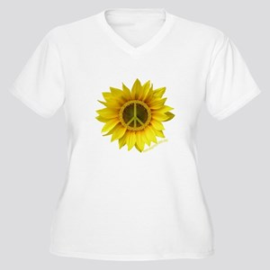Peace Women's Plus Size V-Neck T-Shirt