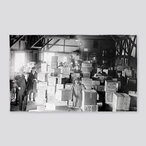 Bootleg Whiskey Warehouse 3'x5' Area Rug