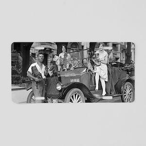 Travel Photographer Aluminum License Plate