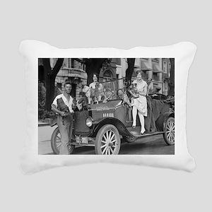Travel Photographer Rectangular Canvas Pillow