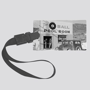 The Eight Ball Pool Room Large Luggage Tag