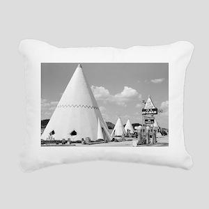 Wigwam Motel Rectangular Canvas Pillow