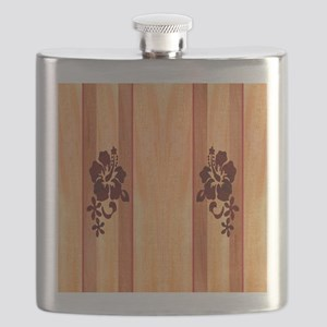 Faux Wood Surfboard Flask