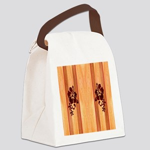 Faux Wood Surfboard Canvas Lunch Bag