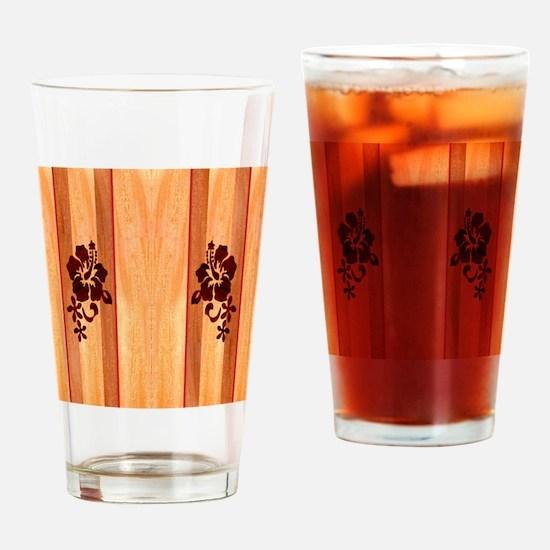 Faux Wood Surfboard Drinking Glass