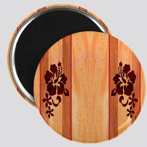 Faux Wood Surfboard Magnet