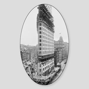 Flatiron Building Construction Sticker (Oval)