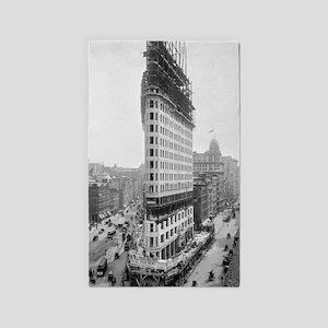 Flatiron Building Construction 3'x5' Area Rug