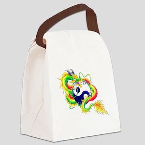 Yin and Yang Dragon Canvas Lunch Bag