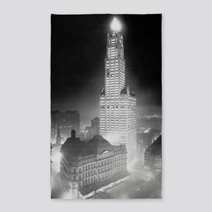 Woolworth Building at Night 3'x5' Area Rug