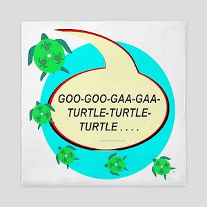 GAGA FOR SEA TURTLES Queen Duvet