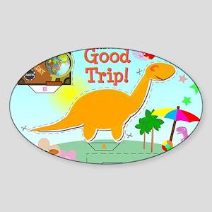 Good Trip Cartoon Dinosaur Craft Sticker (Oval)