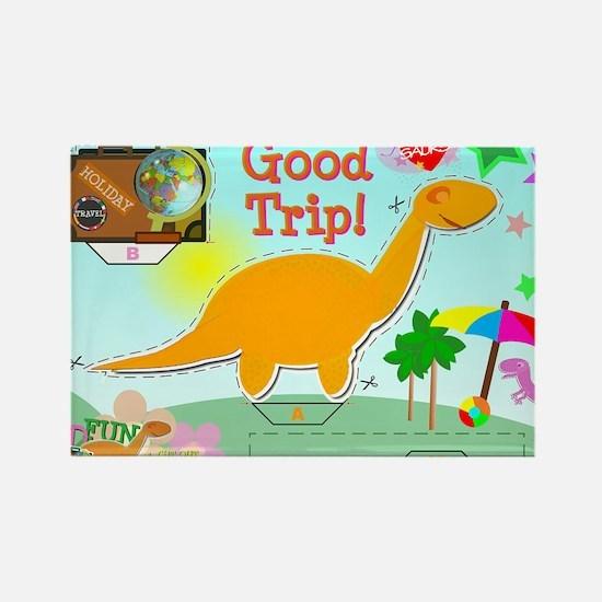 Good Trip Cartoon Dinosaur Craft Rectangle Magnet