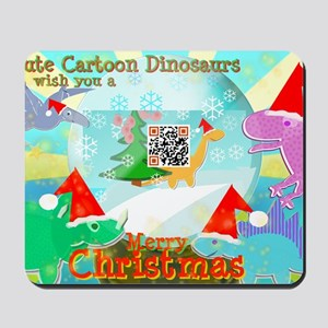 Merry Christmas QR-code Movie Clip Carto Mousepad