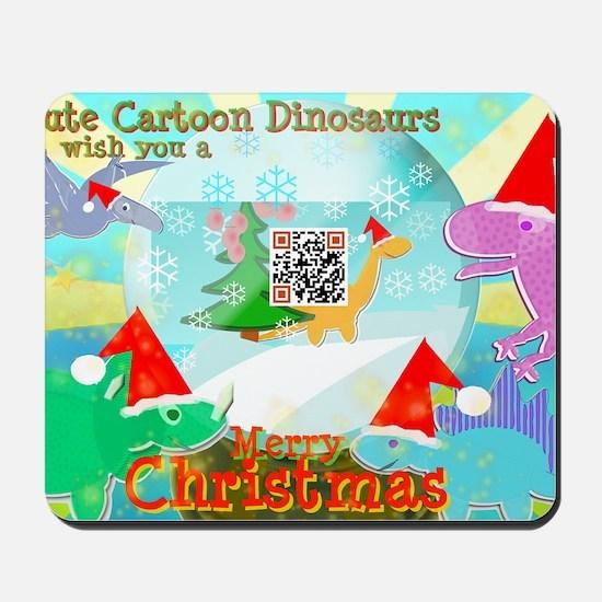 Merry Christmas QR-code Movie Clip Carto Mousepad