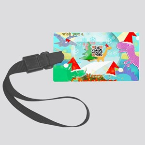 Merry Christmas QR-code Movie Cl Large Luggage Tag