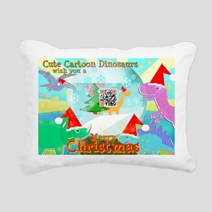 Merry Christmas QR-code  Rectangular Canvas Pillow
