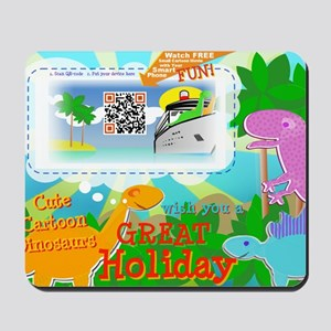 Great Holiday QR-code Movie Clip Cartoon Mousepad