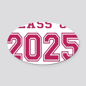 Class of 2025 (Pink) Oval Car Magnet