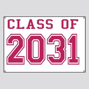 Class of 2031 (Pink) Banner
