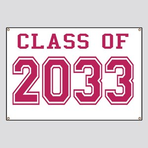 Class of 2033 (Pink) Banner