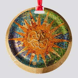 Park Guell Barcelona Round Ornament