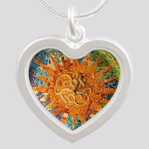 Park Guell Barcelona Silver Heart Necklace