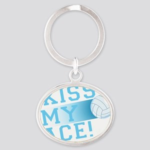 KissMyAce(volleyball) copy Oval Keychain