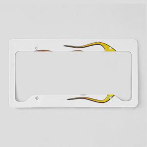 Cool Car Flames License Plate Holder