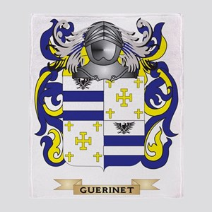Guerinet Coat of Arms (Family Crest) Throw Blanket