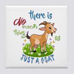 No Such Thing as Just a Goat GetYerGo Tile Coaster