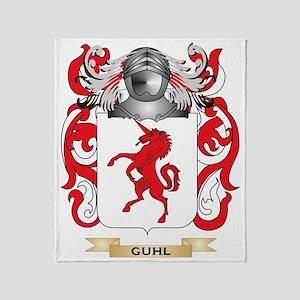 Guhl Coat of Arms (Family Crest) Throw Blanket