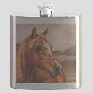 Arabian Horse - Chestnut Face Flask