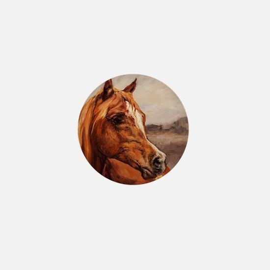 Arabian Horse - Chestnut Face Mini Button