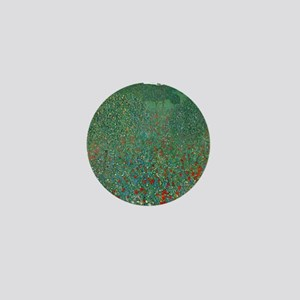 Poppy Field by Gustav Klimt Mini Button