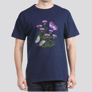 Thistles and Butterflies Dark T-Shirt