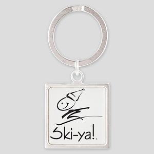 Ski-ya! Square Keychain