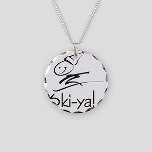 Ski-ya! Necklace Circle Charm