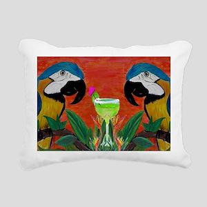 Parrot head Rectangular Canvas Pillow