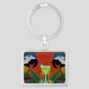 Parrot head Landscape Keychain