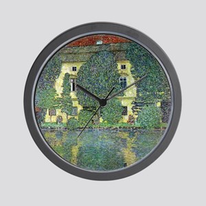Schloss Kammer By Gustav Klimt Wall Clock