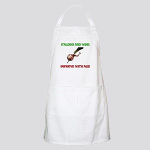 Italians And Wine Improve Wit BBQ Apron