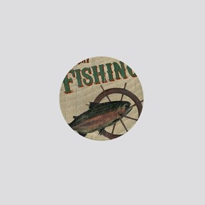 All Day Fishing Mini Button
