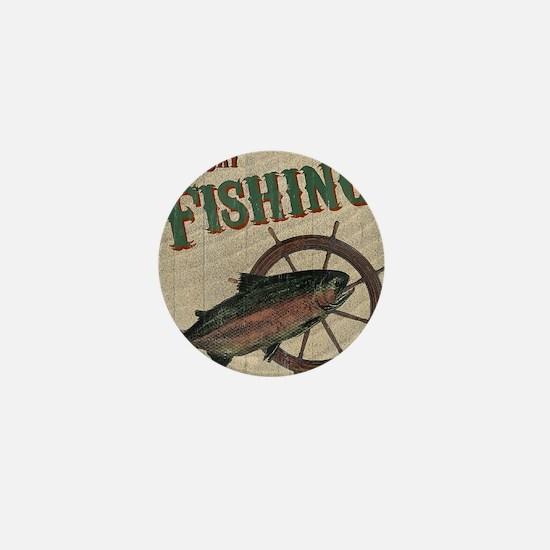 All Day Fishing Mini Button